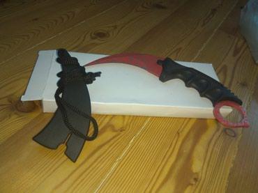 Sumqayıt şəhərində Qurban bayramı üçün ülgüc kimi bıçaq, Karambit Spider skin