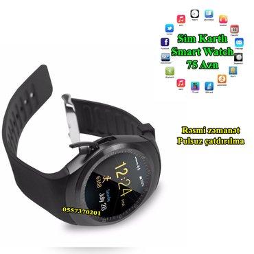 Bakı şəhərində Smart Watch Sport-Sim kart-Zənglər-Sedentary-Yuxu