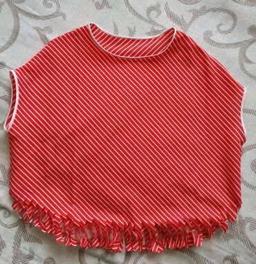 Dečiji Topići I Majice   Plandište: Atraktivna majica za devojčice, od pamukaDužina sa resama 42 cmŠirina