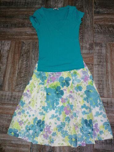 Nova majica c&a vel. S, suknja vel. 36. Komplet za 600. Moze i