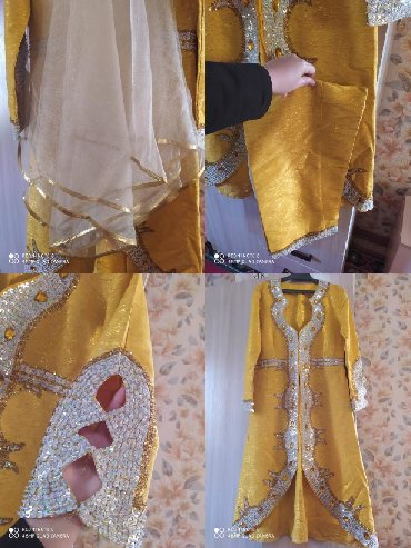 жилет национальный в Кыргызстан: Национальное платье со штанами и накидкой на Салам . 2000уступка будет