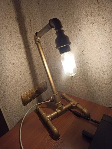 Светильник из железных труб.ручная работа