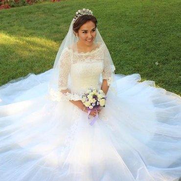 💥 Свадебное👰🏻 и вечернее платье💃🏻, свадебные туфельки👡, фата, бо в Бишкек - фото 4