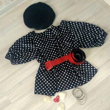 Блуза в горох и платье в Бишкек