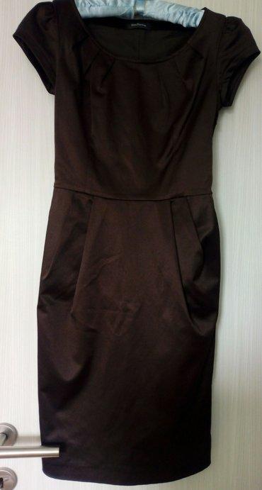 Svečana haljina, braon boje(ima primese ljubičaste boje),materijal - Obrenovac
