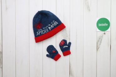 Дитяча шапка з рукавичками Spiderman    Висота шапки: 24 см Напівобхва