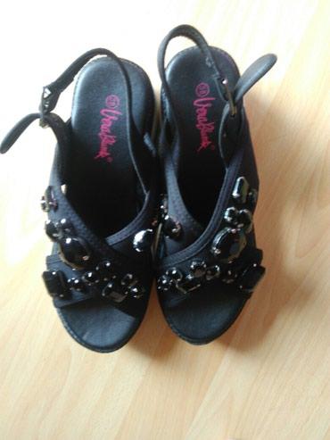 Crne Sandalice sa cirkonima. NOVOOO. PRELEPE!!! broj 38 - Varvarin