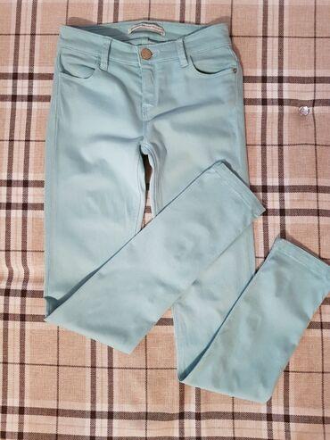 STRADIVARIUS брюки скини бирюзового оттенкаКачество отличноеСостояние