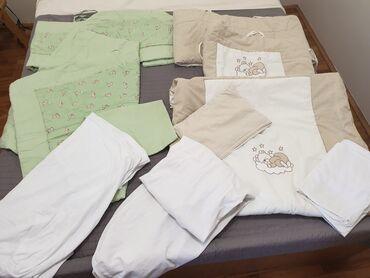 Ogradica - Srbija: Komplet od 2 posteljine za dečiji krevetac, sadrži 2 jorganksa