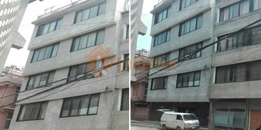 A commercial cum residential house having land area 0-4-1-0 of 5 in Kathmandu