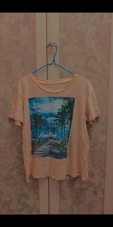 """Женская футболка 200 сом персикового цвета От бренда """"Твоё"""""""