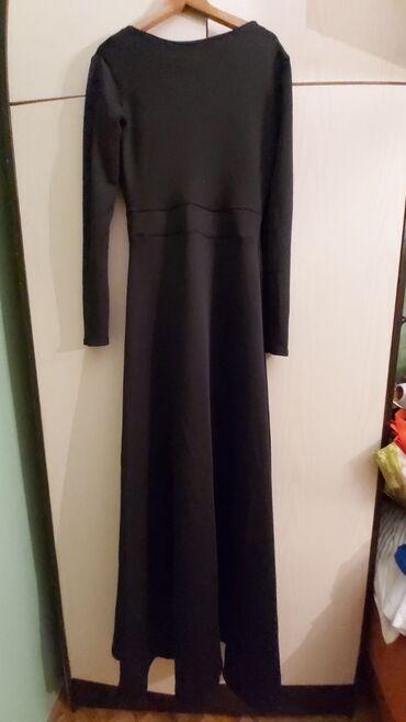 Duga haljina - Srbija: Prelepa dugacka crna haljina za svecane prilike. Nova, uni velicina