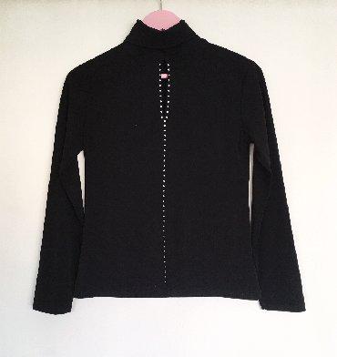 Crna bluza sdugim rukaviz italij - Srbija: Ženska crna bluza, veličina M