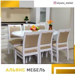 кухонный стол стулья в Кыргызстан: Комплект столов и стульев в рассрочку мебель в займ,мебельный