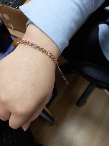 Очень красивый браслет, с красивым плетением, 2.1 гр проба 585