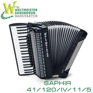 аккордеон-weltmeister в Кыргызстан: Аккордеон Saphir 41/120/IV/11/5 (с итальянскими голосами) Weltmeister
