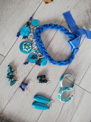 Plavi set nakita, ogrlica i mindjuse - Sjenica