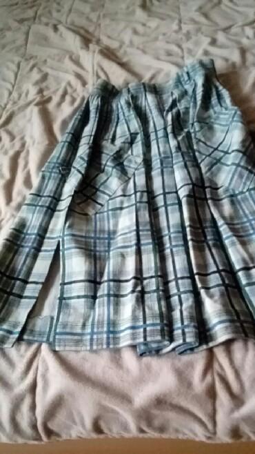 Suknja struka od - Srbija: Interesantna, prelepa suknja od kuvanog kvalitetnog teksas platna, sa
