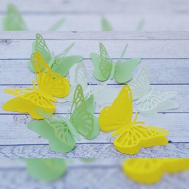 декор бишкек цены в Кыргызстан: Бабочки. Цветы из бумаги. Бумажный декор. Бумажные бабочки. Декор из