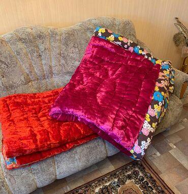 Одеяла 2 шт.,ткань бахмал натуральный,внутри очищенная шерсть,работа