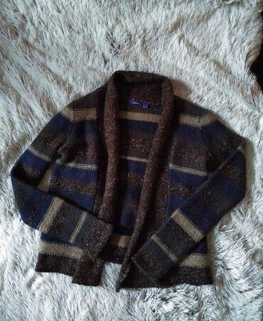 Zenski stofani vuneni mantic tsmno braon - Srbija: Mexx debeli vuneni kardigan u vise boja, kao nov. Braon bez plavi