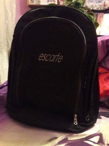 Рюкзак черный, Корея. Три внутренних кармана, из них два глубокие