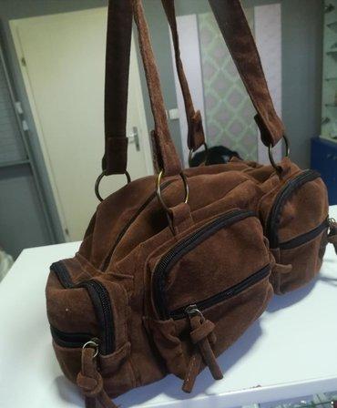 Extra torba sa puno džepova Velur Povoljno
