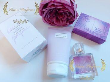 jev cosmetics - Azərbaycan: Viva La Vita qadın desti.Qadın parfumu 50 ve 30 ml-lik ve beden kremi