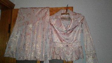 шерстяные женские костюмы в Азербайджан: Новый женский костюм золотисто-розового цвета. Куплен в магазине Хиджа