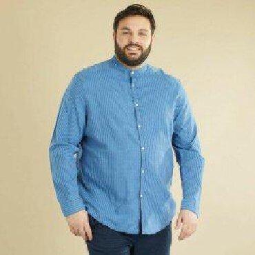 Мужская одежда - Шопоков: Рубашка мужская стильно смотрится . 5хл 6хл 100% хлопок . ткань