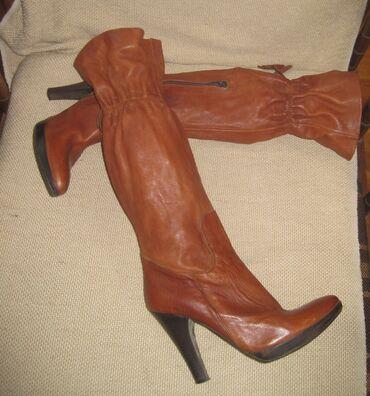 Italijanske cizme br - Srbija: Italijanske kožne čizme      Broj: 40 Dužina gazišta: 26 cm Cizme su p