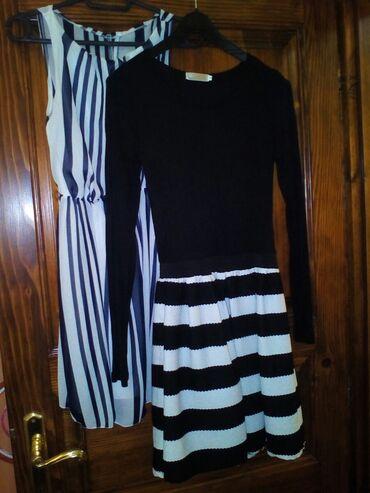 Dve haljine za devojcice od 10-13 godina, jedna dug rukav jedna bez