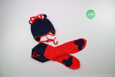 Другие детские вещи - Б/у - Киев: Дитячий зимовий комплект шарф та шапка у стилі Мікі Мауса    Шапка Нап
