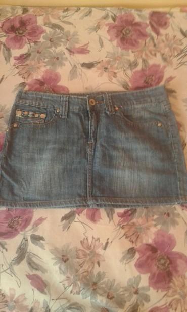 Ženska odeća   Kovilj: Teksas suknja mini, ocuvana, malo nosena!