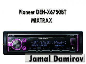 Bakı şəhərində Pioneer DEH-X6750BT MIXTRAX CD, MP3, WMA, WAV, Bluetooth, AUX ,USB.