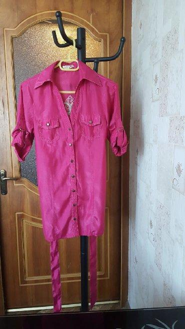 женские блузки туники оптом в Кыргызстан: Блузка рубашка туника длинная удобно под лосины размер стандарт М