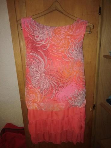 Haljine - Ruski Krstur: Roze cvetna haljina, l