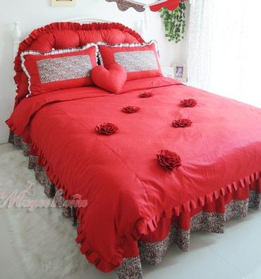 Ярко красное постельное белье с в Бишкек