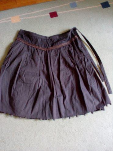Prelepa braon suknja, dupla, do kolena, vrlo lepo stoji. Vel.42. - Valjevo