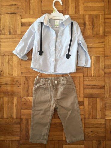 Dečije Farmerke i Pantalone | Zrenjanin: Kosulja i pantalone komplet, C&A, vel 74