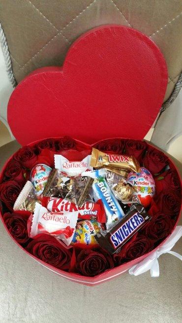 Розы,сердце ,вкусняшки! заказ и доставка -ватсап в Бишкек