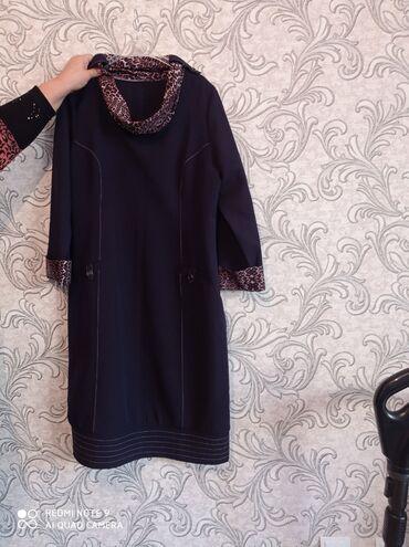 чёрное платье размер 50 52 в Кыргызстан: Платье большемерка состояние очень хорошее размер 50-52.прошу 500с