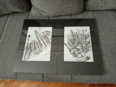 Umetnicke slike 45x30 cm dve u kompletu 4000 rsd