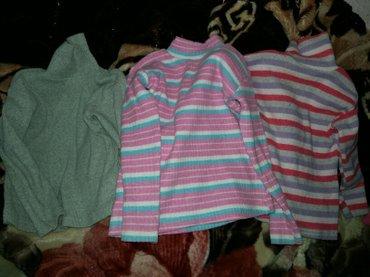 Тёплые водолазки  б/у (серая 3-4года, красная и розовая 4-5лет) 3шт от в Бишкек