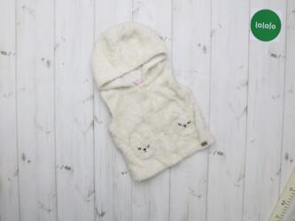 Детская плюшевая жилетка с капюшоном, возраст 9 мес    Длина: 30 см По