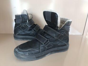 Зимние ботинки кожа немецкой фирмы Ralf 38 размер. Цвет : темно