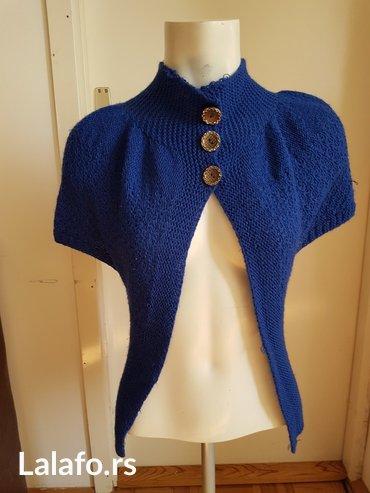 Kraljevsko-plavi-kombinezon-ucina - Srbija: Kraljevsko plavi pleteni prsluk