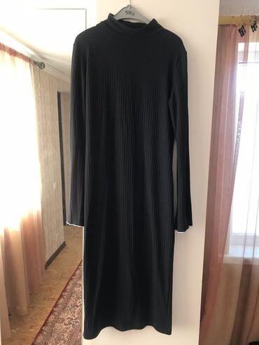 черное до колен платье в Кыргызстан: Очень классное платье от Coliope, длина ниже колен) расклешенные рука