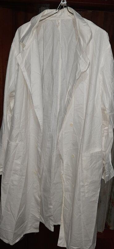 Медицинская одежда - Кыргызстан: Продаю 2 шт. Белые мед. СССР Халаты большие