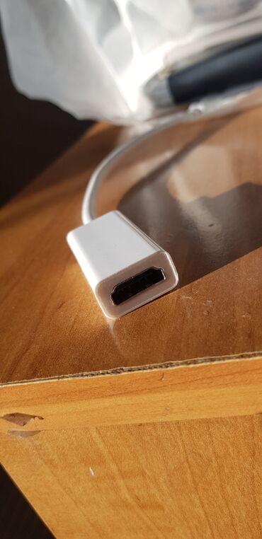 переходник hdmi на av в Кыргызстан: (Адаптер) Переходник Thunderbolt на HDMI, белый